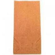 4# Paper Bag, 50lb Kraft, Brown, 5 x 3 1/3 x 9 3/4, 500/Pack