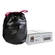 Genuine Joe GJO01230 Drawstring Trash Can Liners- 30 Gal.- 30in.x32in.- Black