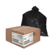 Nature Saver NAT00993 Trash Can Liners- Rcycld- 31-33 Gal- 1.8mil- 33in.x49in.- BK