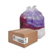 Genuine Joe GJO01012 Trash Can Liner- 30 Gallon- .6Mil- 30in.x36in.- 2- Clear