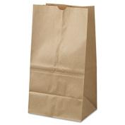 25# Squat Paper Bag, 40lb Kraft, Brown, 8 1/4 x 6 1/8 x1 5 7/8, 500/Pack