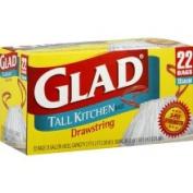 Glad Tall Kitchen Bags, Drawstring, 49.2l - 22 bags