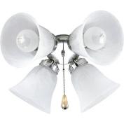Progress Lighting P2610-09 4 Light Ceiling Fan Light Kit - Brushed Nic
