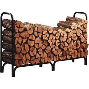 Panacea 15204 8' Black Steel Deluxe Log Rack