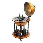 Merske MK45001R 16th Century Italian Style 22 Inch Diameter Floor Globe Bar