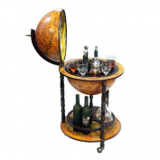 Merske Llc Italian Style 41.9cm Floor Globe Bar in Old World