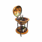 16th Century Italian Style 60cm . Diam. Floor Globe Bar with Twisted Stand
