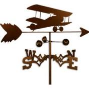 Swen Products Inc Handmade Bi-Wing Aeroplane Weathervane