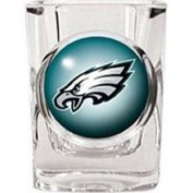 Caseys Distributing 8900674905 Philadelphia Eagles Square Shot Glass- 2 oz.