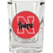 Caseys Distributing 8900677194 Nebraska Huskers Square Shot Glass- 2 oz.