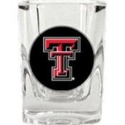 Caseys Distributing 8900680852 Texas Tech Red Raiders Square Shot Glass- 2 oz.