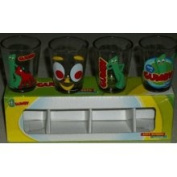 Silver Buffalo, Llc Gumby 4 Pack Shot Glasses