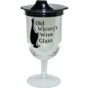 Laid Back Old Winey's Wine Glass W/sippie Lid