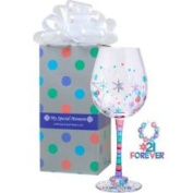 Momo Panache 807018 My Special Moment Forever 21 Wine Glass