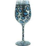 Snow Leopard Wine Glass by Lolita Love My Wine Stemware Collection #12
