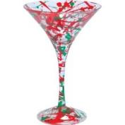 Santa Barbara Studio GLS4-5545B Lolita Martini Glass - Holiday Splash