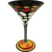 Stealstreet 17.8cm Triggerfish Motif 210ml Martini Style Cocktail Bar Glass