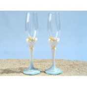 Cassiani Collection 443 Starfish Beach Theme Toasting Glasses Set