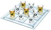 """Maxam SPTTT 9-3/4""""x 9-3/4""""Shot Glass Tic Tac Toe Game"""