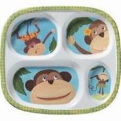 Merritt International Monkey Business Ape Chimp Childrens Plates