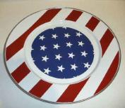 Golden Rabbit SS07 Stars & Stripes Dinner Plate