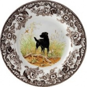 Spode Woodland Hunting Dogs Salad Plate 20.3cm  - Black Labrador