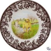 Spode Woodland Hunting Dogs Salad Plate - Yellow Labrador Retriever