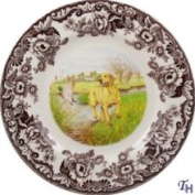 Spode Hunting Dogs Yellow Labrador Dinner Plate