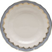 Herend Fish Scale Dessert Plate - Light Blue