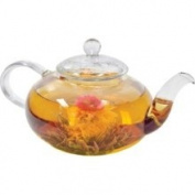 Primula Daisy Borosilicate 1180ml Glass Teapot with Glass Infuser – For Loose Tea, Bagged and Flowering Teas