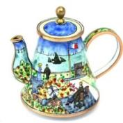 Kelvin Chen Enamelled Miniature Tea Pot -Garden