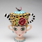 Stealstreet 17.5cm Lady Lux Leopard Print Teapot Lady Cup Tea for One Set