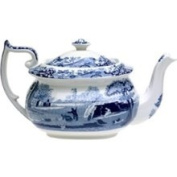 Spode Blue Italian China - 5-Cup Teapot
