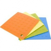 Miu France 99089 Silicone Pot Holders- Set of 4- Green, Blue, Yellow, Orange