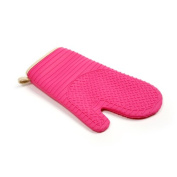 Norpro OVEN MITT/GLOVE Pink Silicone with Raised Grooves Baking Cooking Hot Pad