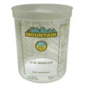 Mountain MTN4202 Mountain Disposable Quart Mixing Cup - 100 Per Case