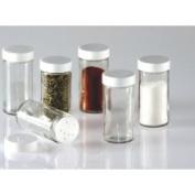 CS Household Glass Spice Jars- Set of Six Glass Spice Bottles 7820