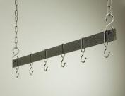 Rogar 1405 91.4cm Hanging Bar - Hammered Steel and Chrome