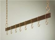 Rogar Potracks 1744 54-Inch Hammered Copper and Copper Hanging Bar Rack