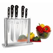 Mercer Cutlery M23500 Knife Block Set Forged 6 Piece Glass