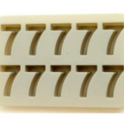 Sillycone Silicone Single Number Ice / Bake Tray Number 7