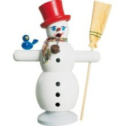 Smoker Snowman with Red Hat - 16 Cm / 6 Inch