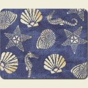 Highland Graphics Scallop Seashell Starfish Seahorse Glass Cutting Board