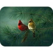 23cm x 30cm Cardinal and Pine Tempered Glass Kitchen Cutting Board by McGowan Manufacturing
