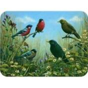 Tuftop Blackbird and Bullfinch Cutting Board Size