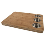 Core Bamboo Pro-Chef Butcher Block with 3 Prep Bowls CPB209