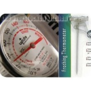 "Update International THFR-17 5 1/2""-Long Dial Frothing Thermometer"