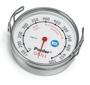 Polder Grill Surface Thermometer Silver