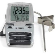 CDN Digital Candy/Jelly & Deep Frying Kitchen Thermometer Timer & Clock Silver
