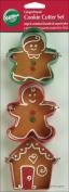 Wilton 436372 Cookie Cutters 3-Pkg-Gingerbread